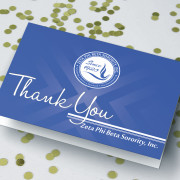 Sorority Gift Idea-zeta phi beta cards