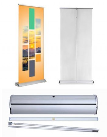 Zeta Stripes Retractable Roll Up Banner